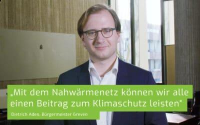 Bürgermeister Dietrich Aden setzt sich für das Nahwärmenetzprojekt der Biowärme Greven ein